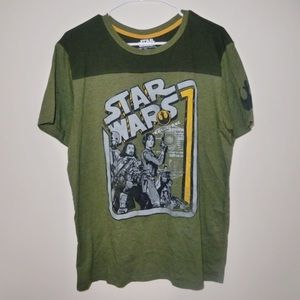 Star Wars Rogue One green and yellow top